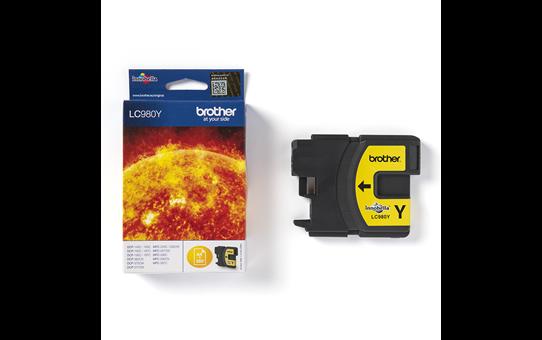 Oryginalny żółty tusz Brother LC-980Y 3
