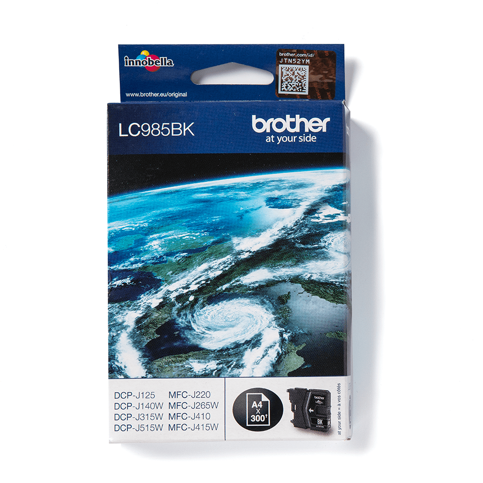 LC985BK Brother genuine ink cartridge pack front image