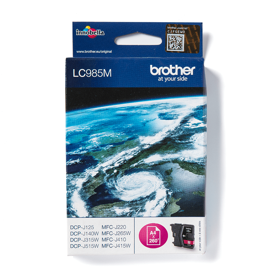 LC985M Brother genuine ink cartridge pack front image