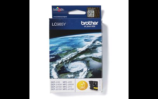 Originální inkoustová kazeta Brother LC985Y – žlutá