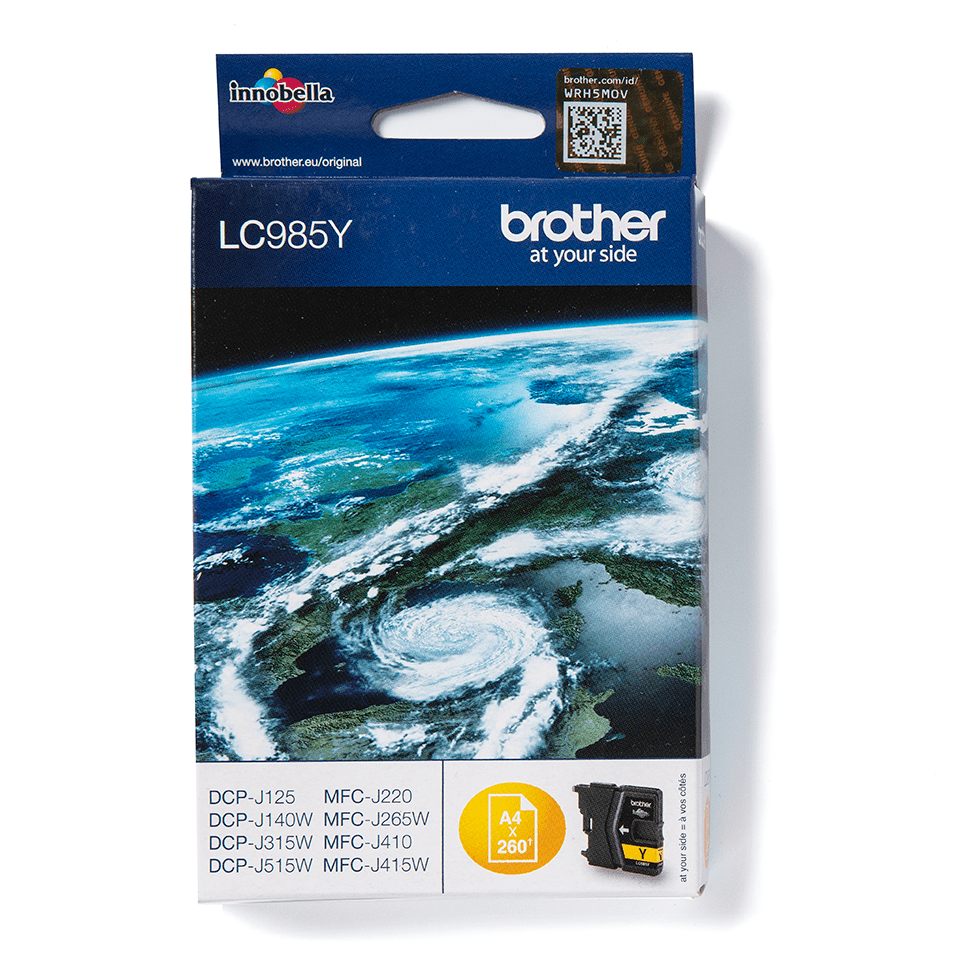 LC985Y Brother genuine ink cartridge pack front image