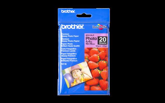 Оригинална фотохартия Brother BP61GLP 10 cm x 15 cm, гланц