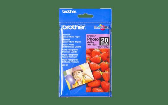 Brother BP61GLP: оригинальная глянцевая фотобумага формата 10 см х 15 см.
