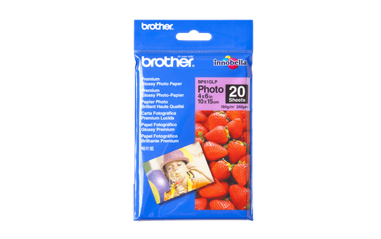 Originalt Brother BP61GLP glanset fotopapir 10 cm x 15 cm