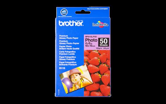 Originalt Brother BP61GLP50 glanset fotopapir 10 cm x 15 cm