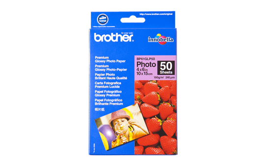 Brother BP61GLP50 glanzend fotopapier 10 x 15 cm