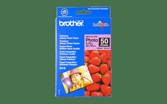 Оригинална фотохартия Brother BP61GLP50 10 cm x 15 cm, гланц