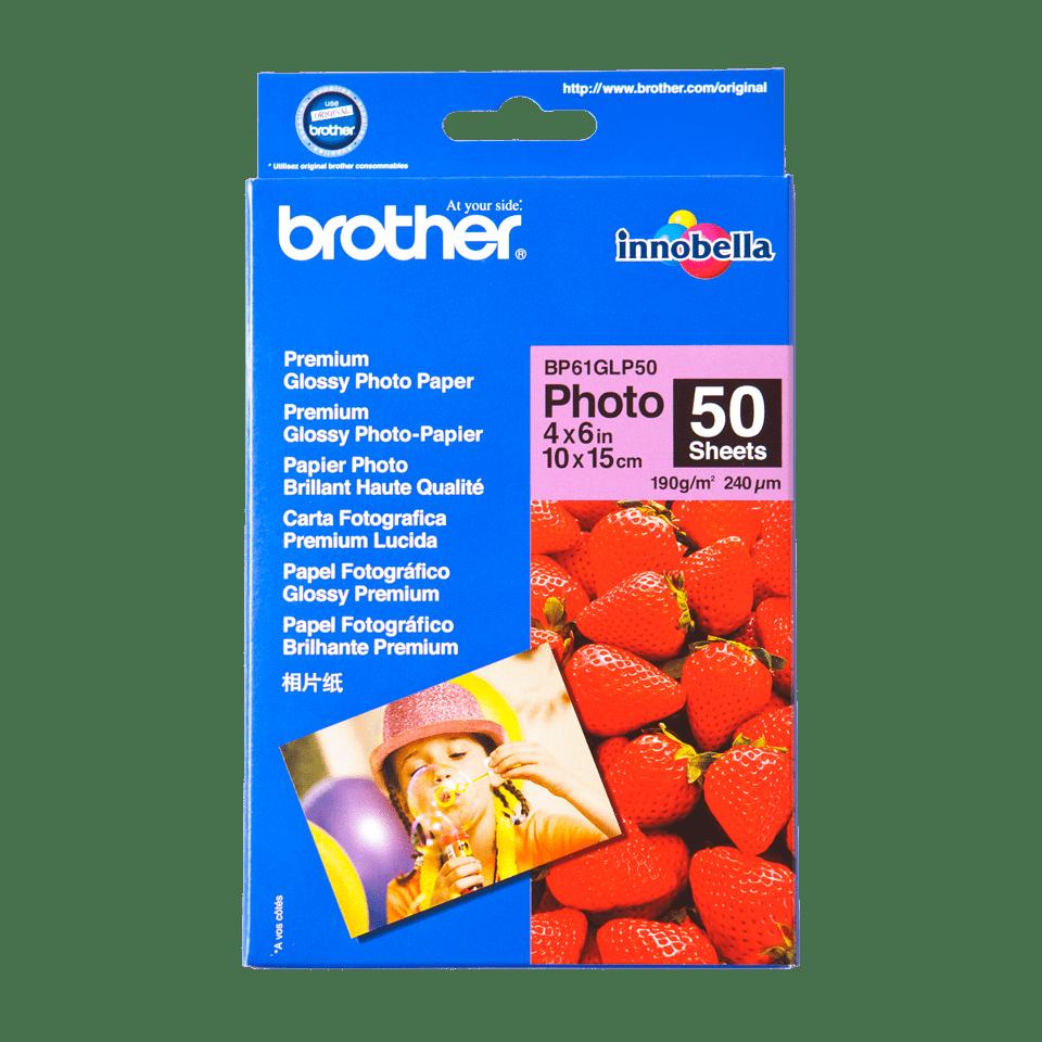 Brother BP-61GLP50 Carta fotografica patinata originale A6 - 10 cm x 15 cm