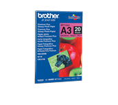 Brotherin alkuperäinen kiiltävä BP71GA3 A3-valokuvapaperi.