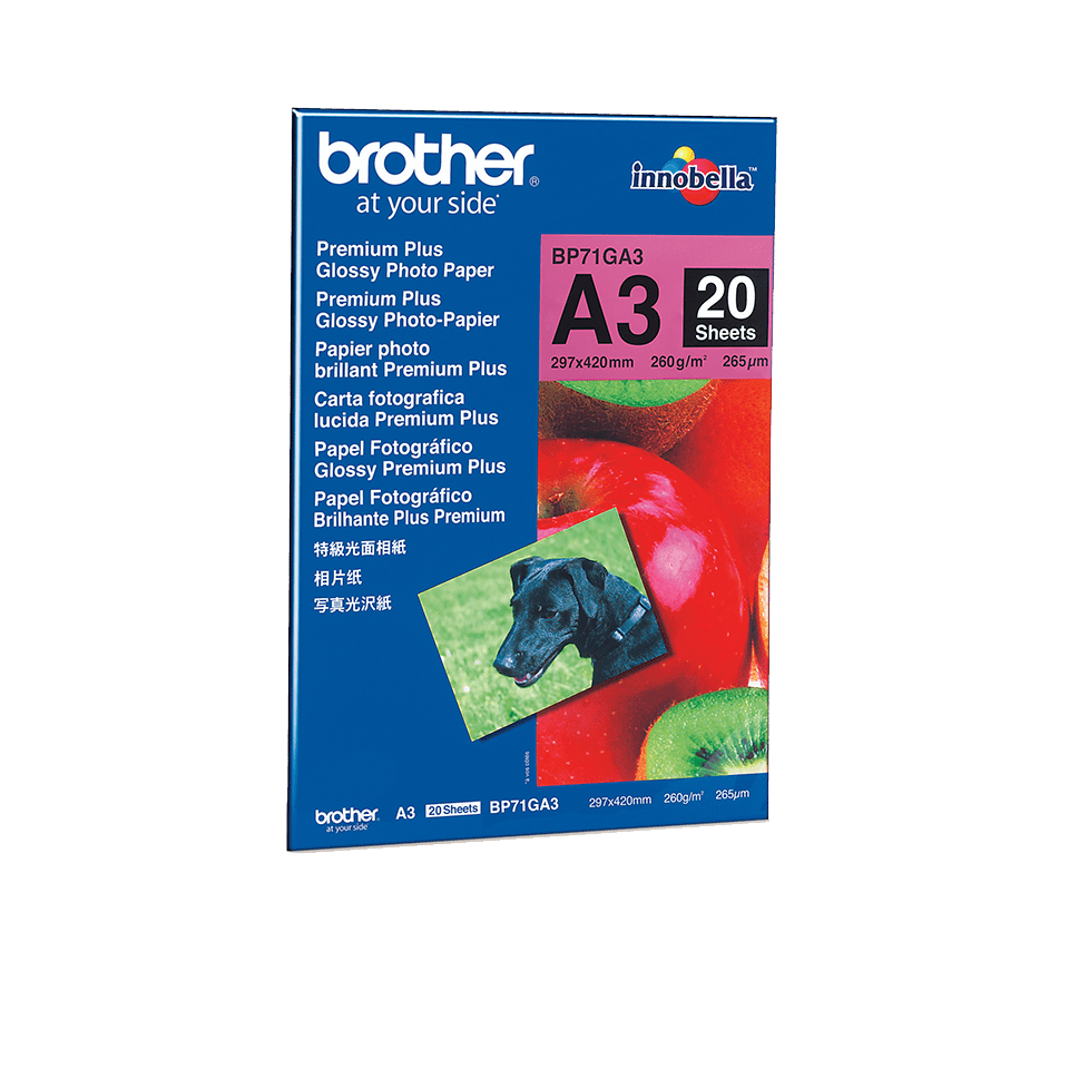 Originalen Brother BP71GA3 svetleči foto papir A3