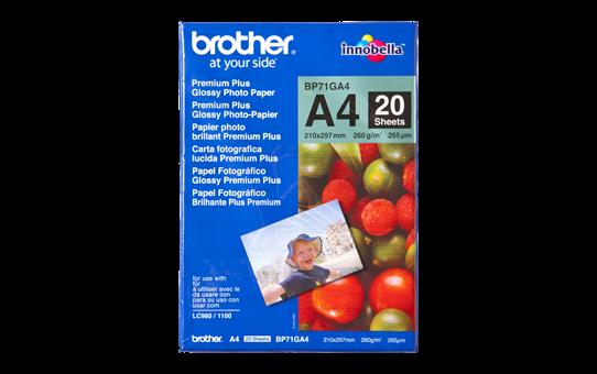 Brotherin alkuperäinen kiiltävä BP71GA4 A4-valokuvapaperi.