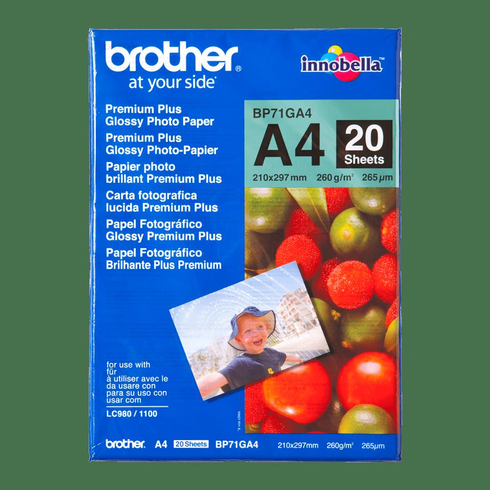 Brother BP-71GA4 Carta fotografica patinata originale formato A4