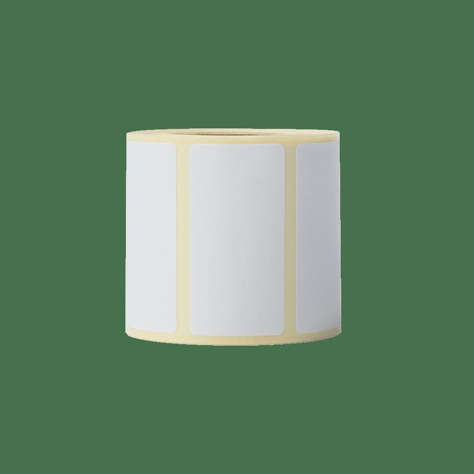 Brother BDE1J026051060 hvite papiretiketter i fast format, 51 x 26 mm bredde stående