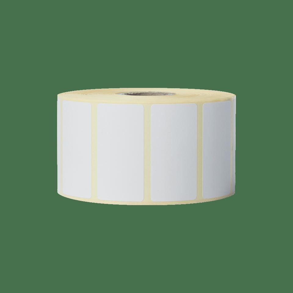 Brother BDE1J026051102 hvite papiretiketter i fast format, 51 x 26 mm bredde stående