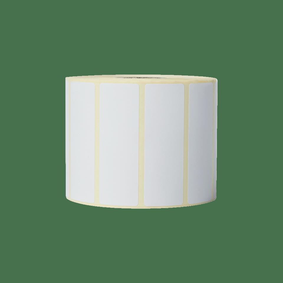 Brother BDE1J026076102 hvite papiretiketter i fast format, 76 mm x 26 mm bredde stående