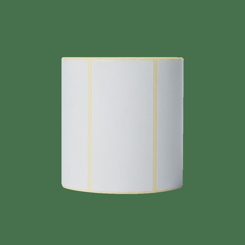Brother BDE1J050102102 hvite papiretiketter i fast format, 102 mm x 50 mm bredde, 1050 etiketter per rull stående