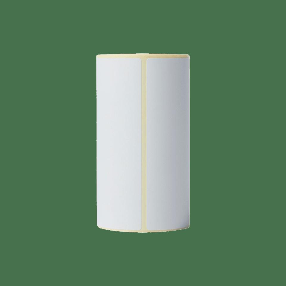 Brother BDE1J152102058 hvite papiretiketter i fast format, 102 mm x 152 mm bredde, 85 etiketter per rull stående