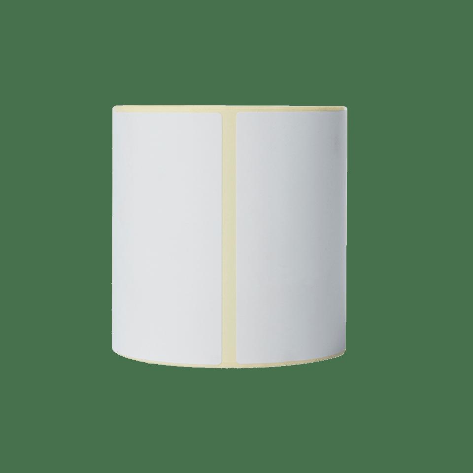 Brother BDE1J152102102 hvite papiretiketter i fast format, 102 mm x 152 mm bredde, 350 etiketter per rull stående