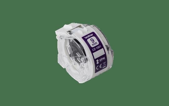 Oryginalna taśma ciągła Brother CZ-1001 o szerokości 9mm umożliwiająca druk kolorowych etykiet 2
