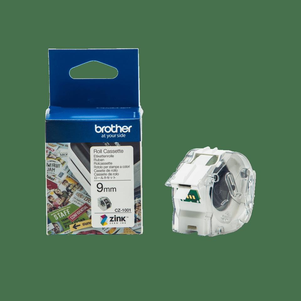 Rollo de cinta adhesiva para etiquetas a color CZ1001 Brother
