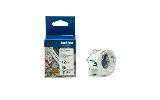 Genuine Brother CZ-1002 full colour continuous label roll, 12mm wide