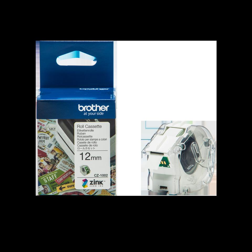 CZ-1002 12mm full colour label roll and box carton