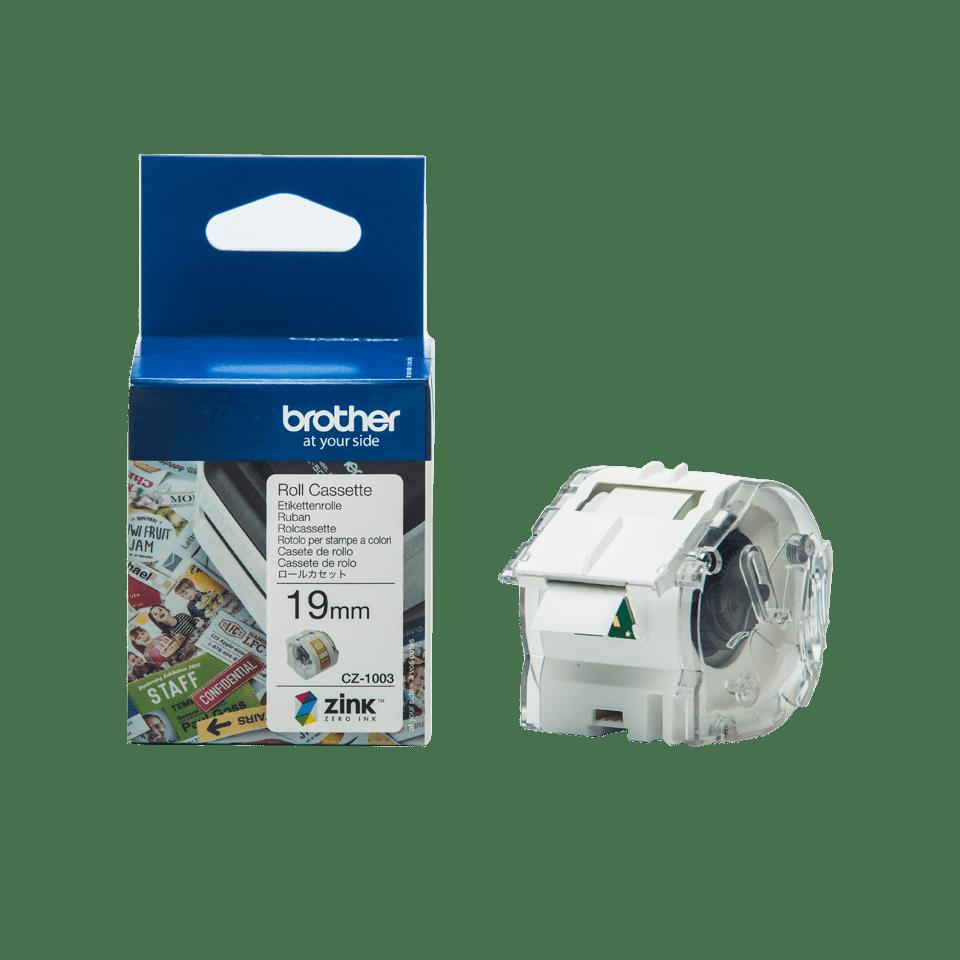 Rollo de cinta adhesiva para etiquetas a color CZ1003 Brother