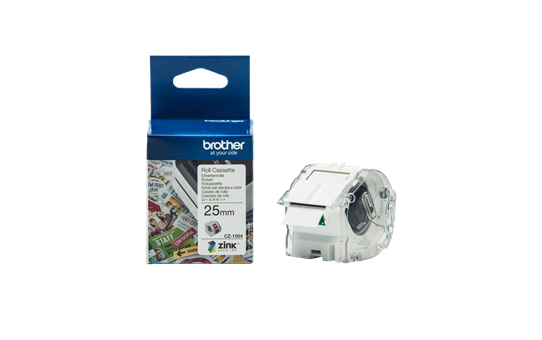 Genuine Brother CZ-1004 full colour continuous label roll, 25mm wide
