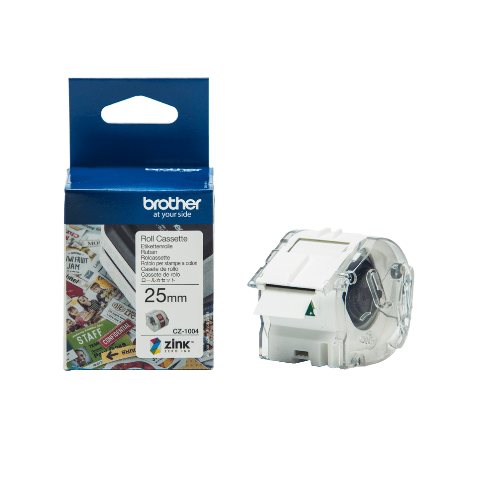 CZ-1004 25mm full colour label roll and box carton