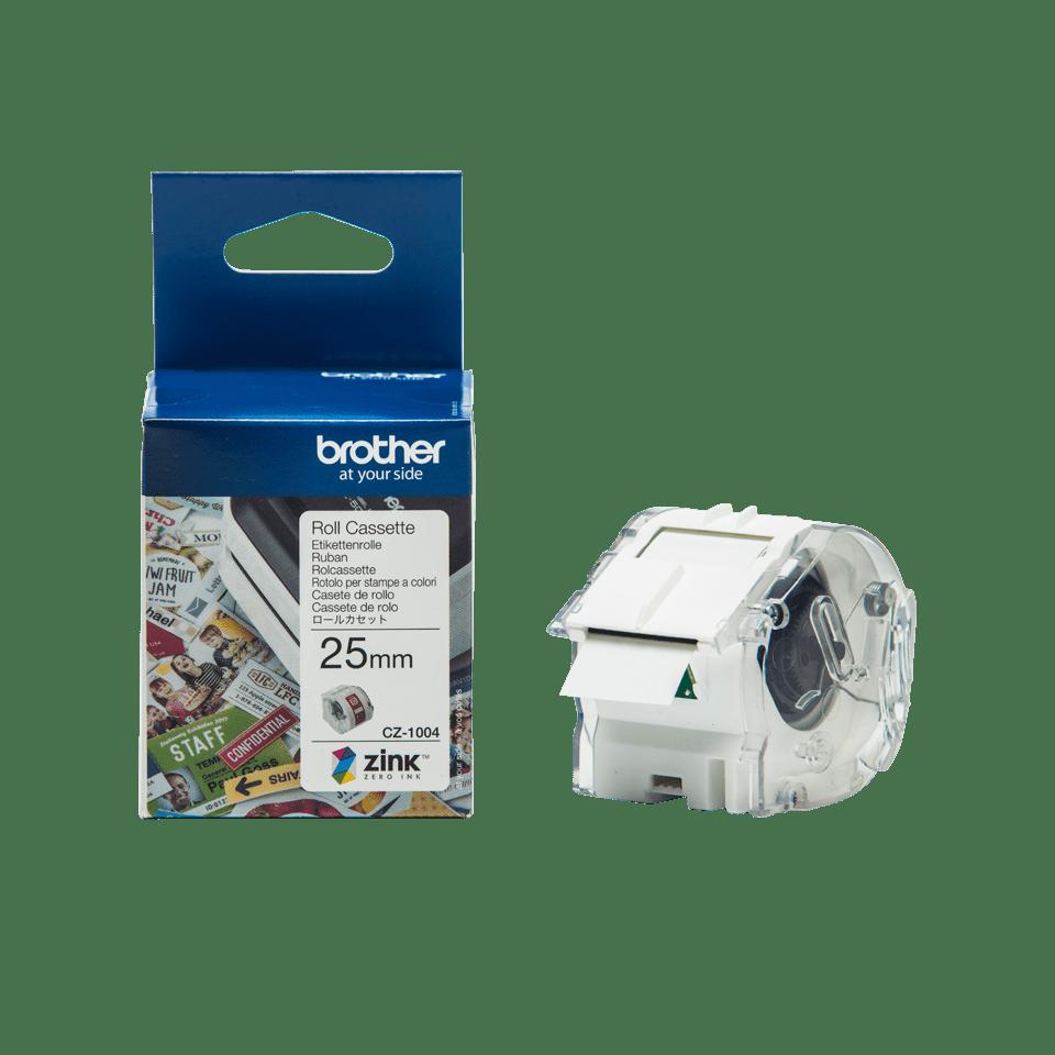 Rolo de fita adesiva para etiquetas a cores CZ1004 Brother