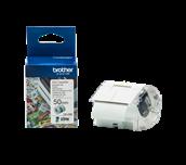 Brother CZ1005 taperull i fullfarge 50 mm bred med og uten forpakning til Brother VC500W fullfarge etikettskriver