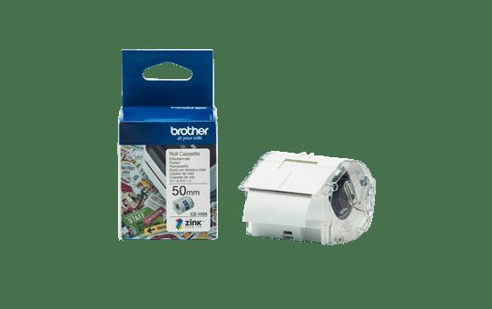 Rouleau continu d'étiquettes pleine couleur Brother CZ-1005 d'origine, 50 mm de large