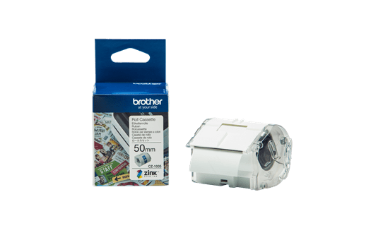 Genuine Brother CZ-1005 full colour continuous label roll, 50mm wide