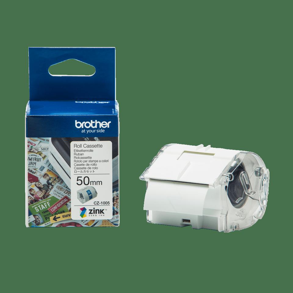 Rollo de cinta adhesiva para etiquetas a color CZ1005 Brother