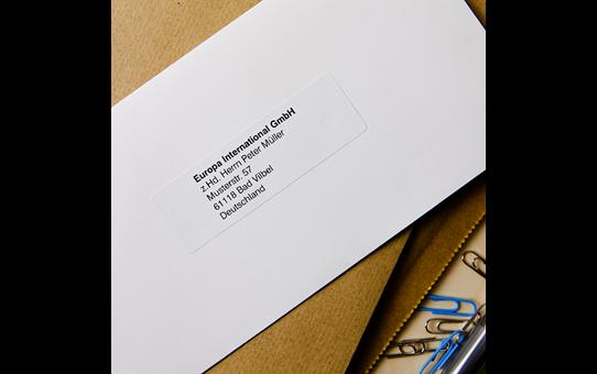 Brother original DK11201 standard adresseetikett i fast format - sort på hvit, 29 mm x 90 mm 2