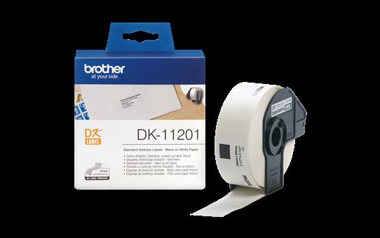 Originalus Brother DK-11201 etikečių ritinėlis – juodos raidės baltame fone, 29 mm x 90 mm 3