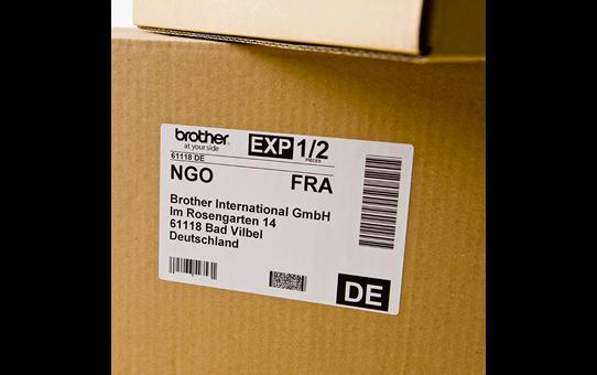 Originalus Brother DK-11202 etikečių ritinėlis – juodos raidės baltame fone,  62 mm x 100 mm 2