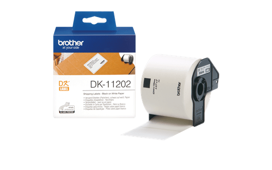 Genuine Brother DK-11202 Label Roll – Black on White, 62mm x 100mm 3