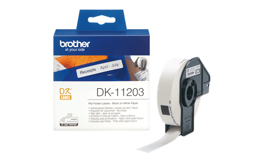 Rotolo di etichette originale Brother DK-11203 – Nero su bianco, 17 mm x 87 mm 3