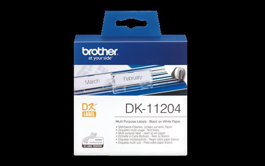 Brotherin alkuperäinen DK11204-rullatarra – musta/valkoinen
