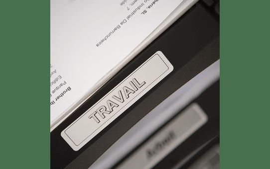 Oriģināls Brother DK-11204 melnas drukas balts marķēšanas lentes rullis 17mm x 54mm 2