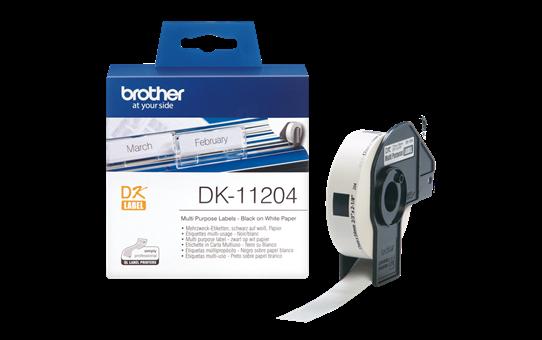 Original Brother DK11204 universaletikett – sort på hvit, 17 mm x 54 mm 3