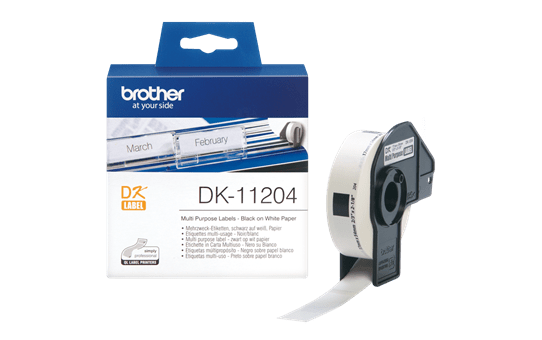 Originele Brother DK-11204 voorgestanst multi purpose label – zwart op wit, 17 mm x 54 mm 3