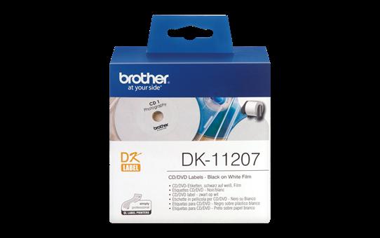 Originalna Brother DK-11207 rola s poliestrskimi nalepkami