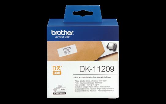 Brother original DK11209 små adresseetiketter- sort på hvit, 29 mm x 62 mm