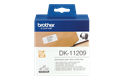 Genuine Brother DK-11209 Label Roll – Black on White, 29mm x 62mm