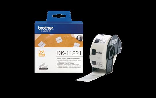 Original DK-11221 Rolle mit quadratischen Etiketten von Brother – Schwarz auf Weiß, Papier, 23 × 23mm 3