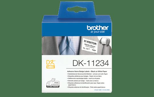 Brother DK-11234 Einzeletiketten – schwarz auf weiß