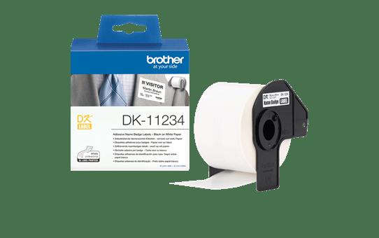 Brother DK-11234 Einzeletiketten – schwarz auf weiß 3