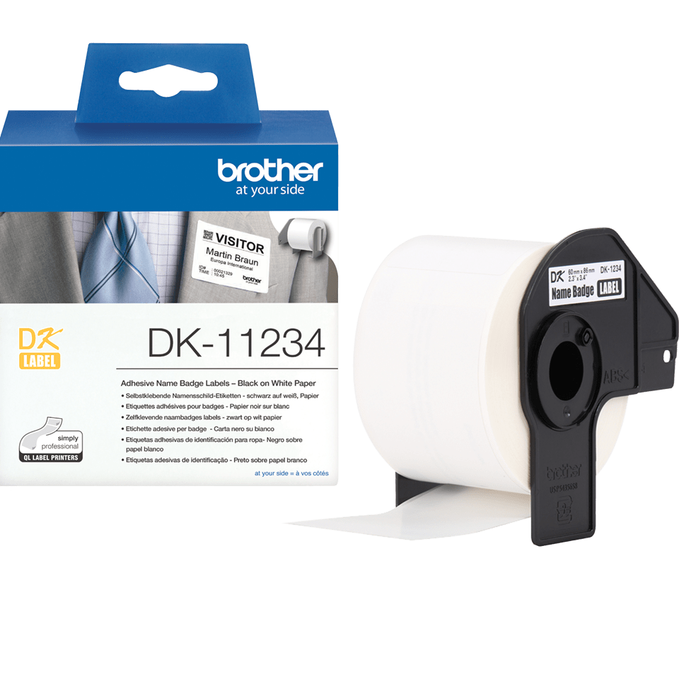 Etiquetas pré-cortadas DK11234 Brother